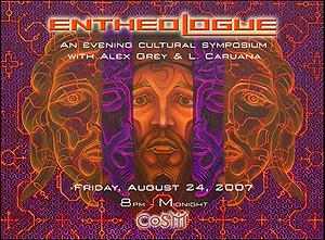 L. CARUANA AND ALEX GREY AT ENTHEOLOGUE