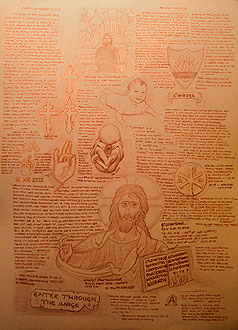 Preparatory Drawings for Christ Alchemist